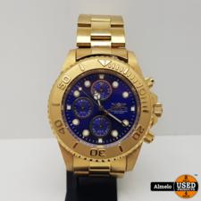 Invicta Invicta Horloge Pro Diver Chronograph Blue Dial Gold-plated 43.5mm 19157