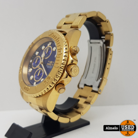 Invicta Horloge Pro Diver Chronograph Blue Dial Gold-plated 43.5mm 19157