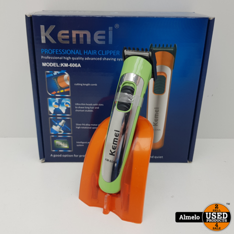 Kemei KM-606A PROD Tondeuse Groen *Nieuw*