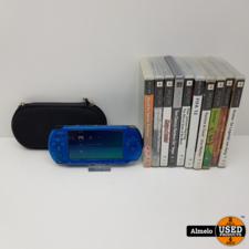 Sony Playstation Sony Playstation Portable 3004 Blauw met games