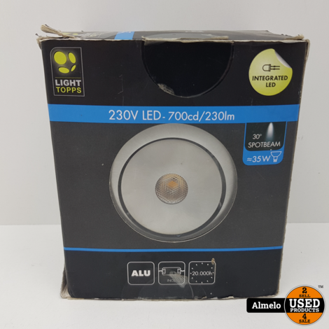 Light topps 230v led spotbeam *Nieuw*
