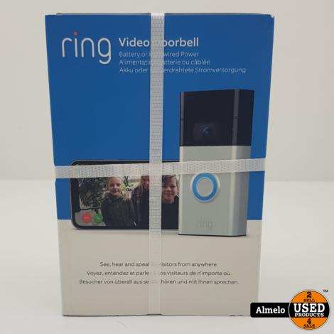 Ring Video Doorbell Gen. 2 Grijs nieuw geseald