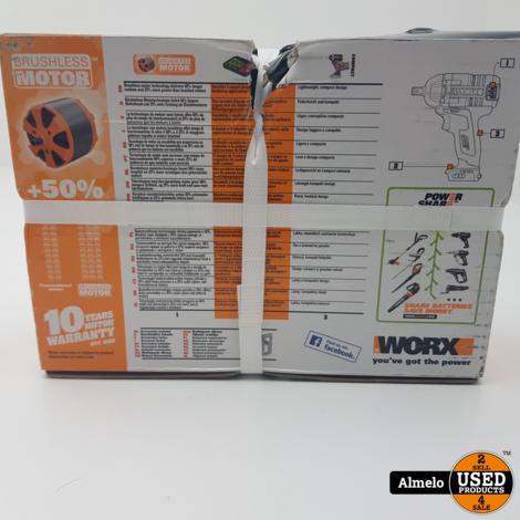 Worx accudraaislagmoeraanzetter WX279.9 Bare Tool 20V *Nieuw Geseald*
