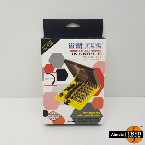 JakemY & Jackly 6089B - Precisie Reparatieset - 45-delig - inclusief Flexibel Verlengstuk *Nieuw*