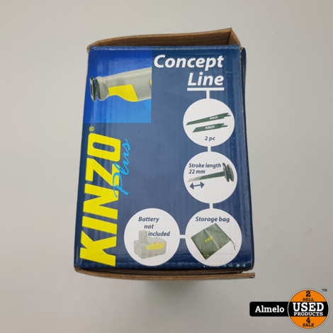 Kinzo Reciprozaag Body 22mm incl opbergtas en 2 zaagblaadjes *Nieuw*