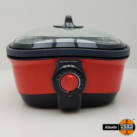 Gourmetmaxx Multicooker 8 in 1 rood *Nieuw*