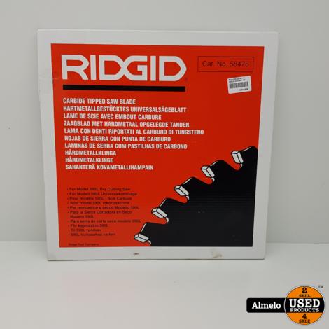 RIDGID 80T ZAAGBLAD 14 INCH 355MM VOOR 590L DROOGZAAGMACHINE - RIDGID 58476 *NIEUW GESEALD*