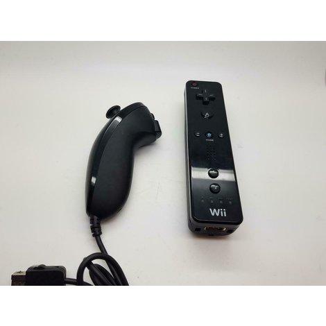 Wii controller zwart + nunchuck