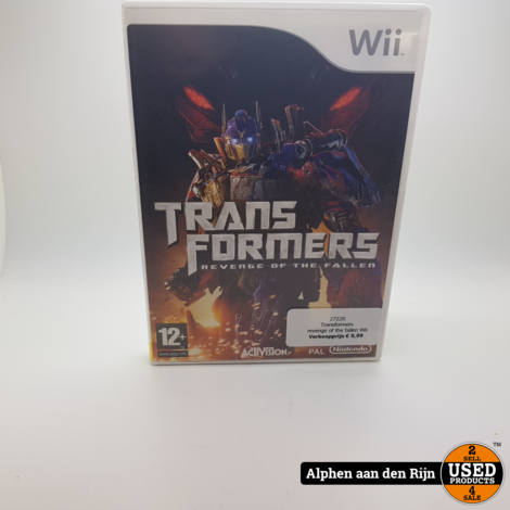 Transformers revenge of the fallen Wii