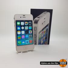 Apple iPhone 4 8gb wit + doosje