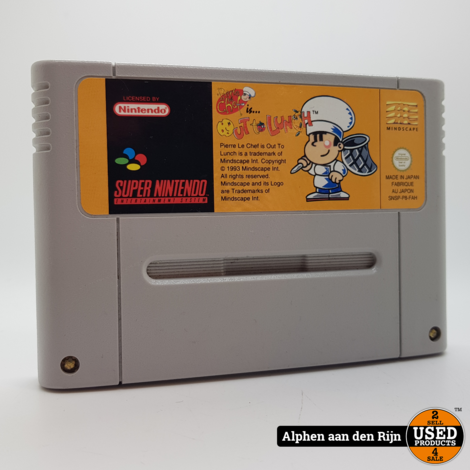 Pierre Le Chef is Out to Lunch snes