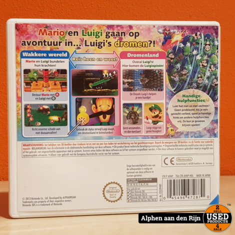 Mario & luigi Dream team bros 3ds