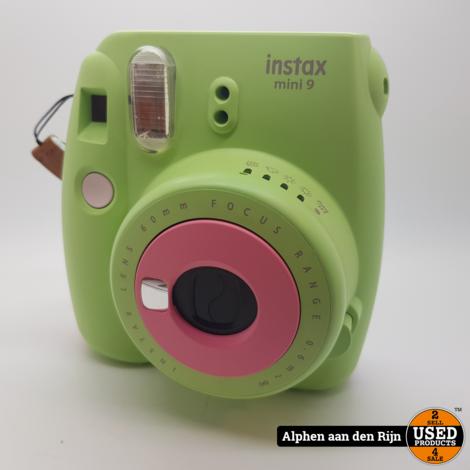 FujiFIlm Insta mini 9 groen / roze / grijs