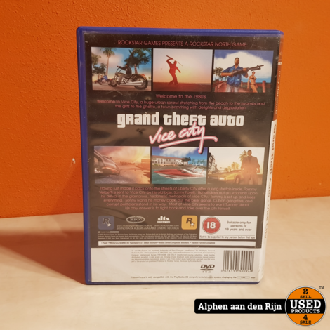 Grand Theft Auto Vice City Playstation 2