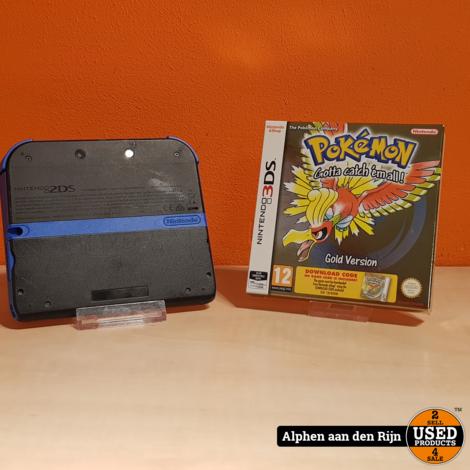 Nintendo 2DS + Pokemon Gold en Mario Kart 7 geinstalleerd