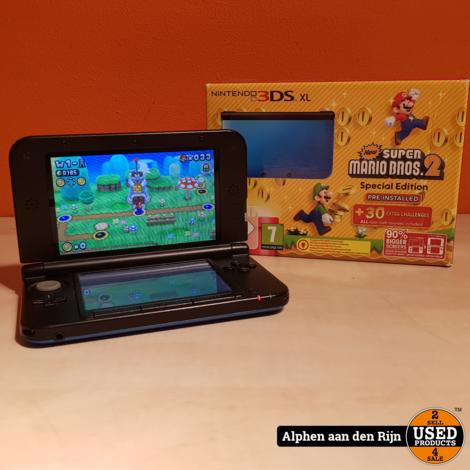 Nintendo 3DS XL New super mario editie + spel geinstaleerd