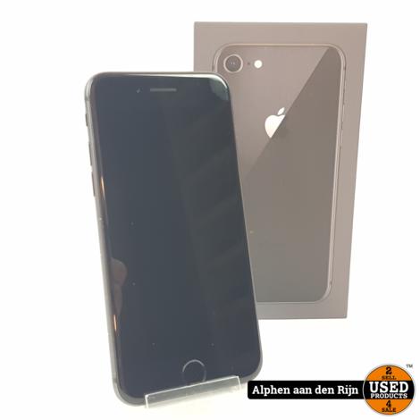 Apple iPhone 8 64gb Zwart 90% + doos