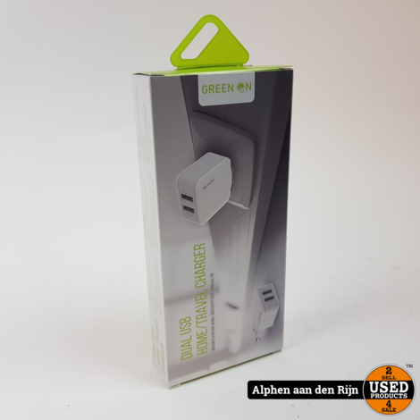 Green On double usb oplader