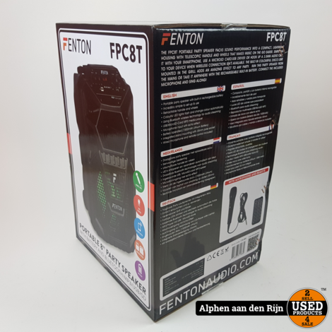 Fenton FPC8T Portable 8'' LED speaker BT4