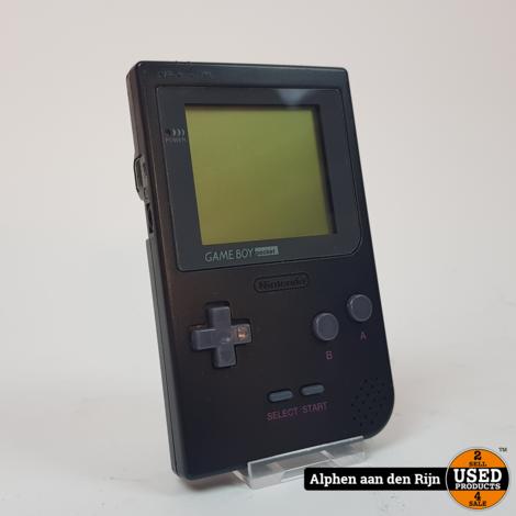 Gameboy Pocket zwart in case