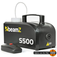 Beamz S500 rookmachine met 250ml vloeistof NIEUW