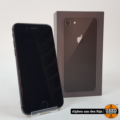 Apple iPhone 8 64gb 84% Space gray + doos