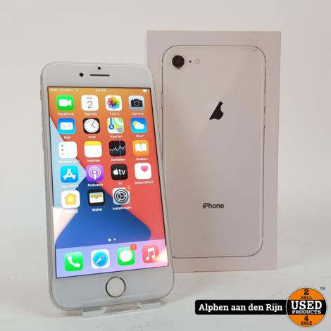 Apple iPhone 8 64gb 85% Silver + doos
