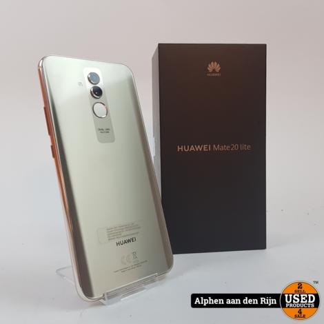 Huawei Mate 20 Lite Platinum gold + doos