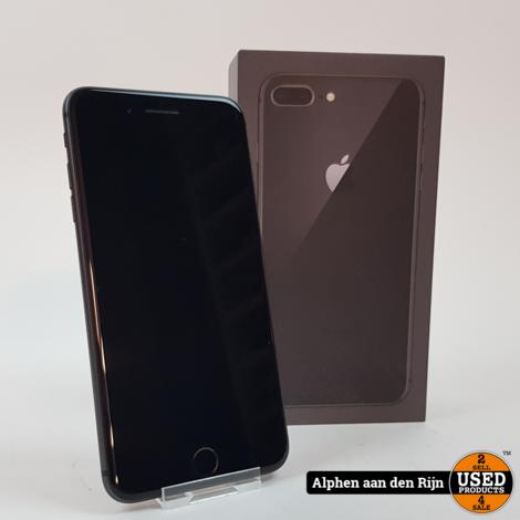 Apple iPhone 8 Plus 64gb zwart 85% + doos