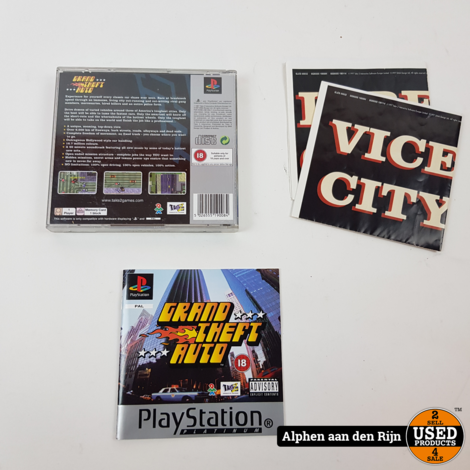 Grand theft Auto PS1 (zonder cover)