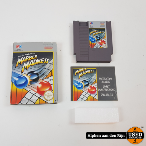 Marble madness nes compleet