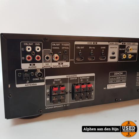 Denon AVR-1513 HDMI Receier + ab en handleiding