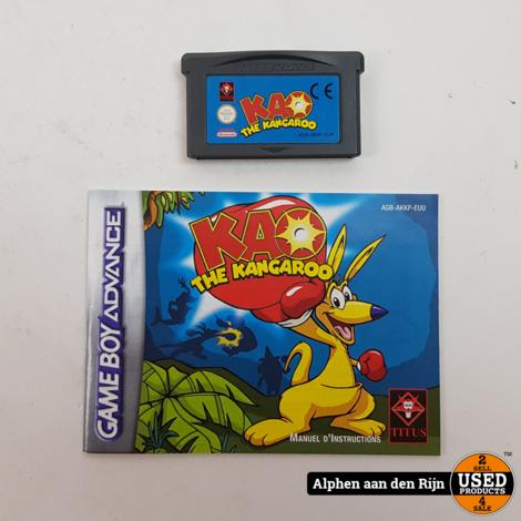 KAO the kangaroo gba + boekje