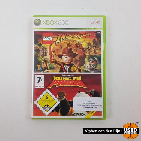 Lego indiana jones & Kung fu panda Duo-pack Xbox 360