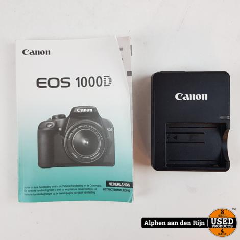 Canon 1000D Camera  + 35-80mm 1:4-5.6 II Lens
