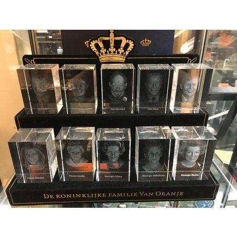 Glazen beeldjes Koninklijke Huis