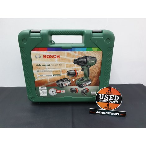 Bosch AdvancedImpact 18 2x 2,5ah accu Accuboormachine
