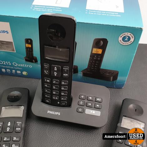 Philips D215 Quattro Huistelefoon Set