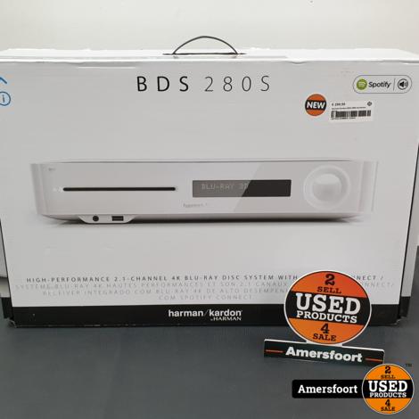 Harman Kardon BDS 280S Wit | Versterker | 3D Blu-Ray Speler NIEUW