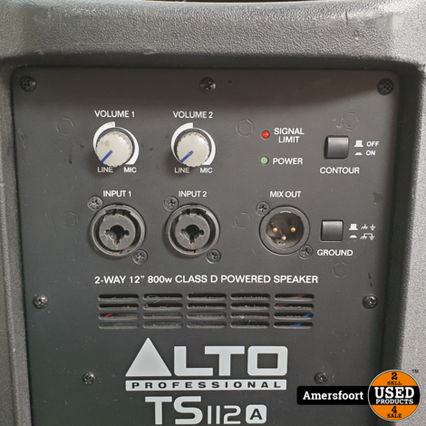 Alto Portable PA Speaker TS112a tru sonnic