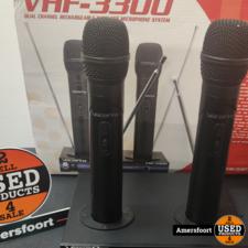 VocoPro VHF-3300 Oplaadbare Dual Handheldset | Microfoons | Karaoke