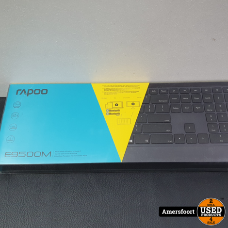 Rapoo E9500M  Multi-Mode DraadloosToetsenbord