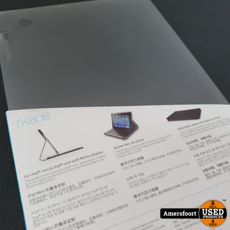 Rapoo iPad Mini 1/2/3 Cover | Hoes | Toetsenbord | Zwart | TK808