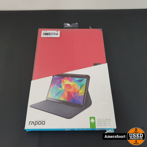 Rapoo Samsung Galaxy Tab 3/4/s Cover | Hoes | Rood | 10.1 / 10.5 inch | TC210