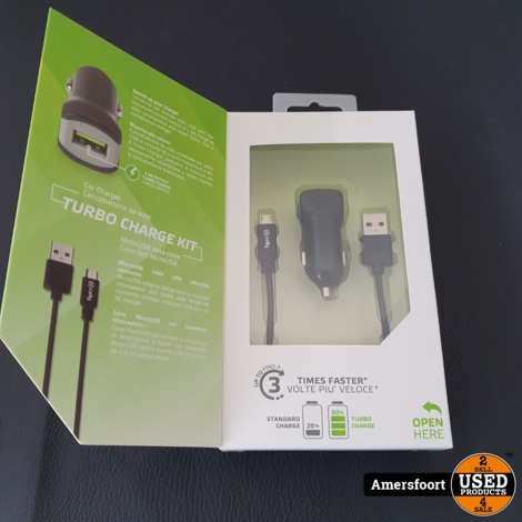 Celly Autolader 12V | 2.4Ah turbo lader | Micro USB | Wit