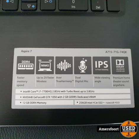 Acer Aspire a715-71g | i7 Gaming Laptop