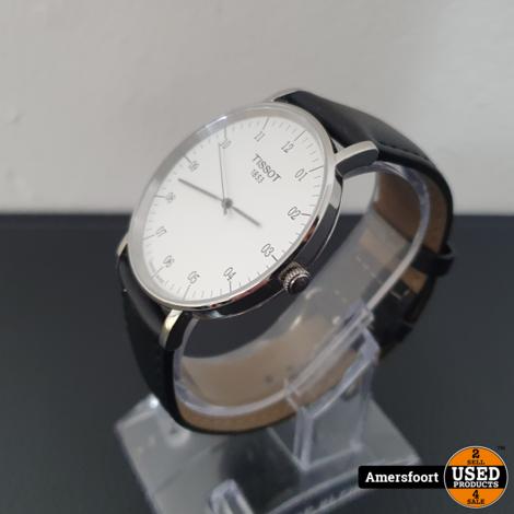 Tissot Everytime Desire t109610 Horloge   Zwart Leder Bandje