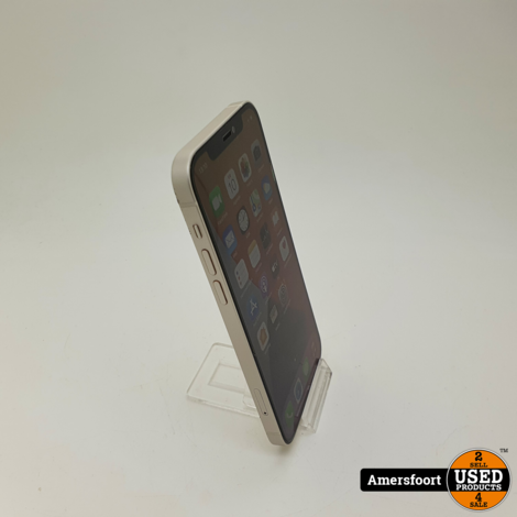 Apple iPhone 12 128GB Wit   Apple Care 03-08-2022