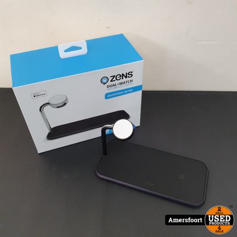 Zens Dual+ Watch draadloze Apple oplader Zwart
