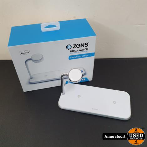 Zens+ Dual + Watch Apple Draadloze oplader Wit